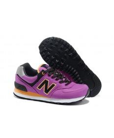 New Balance 574 de la flor del cactus púrpura con Negro y naranja para las mujeres Zapatos de la zapatillas
