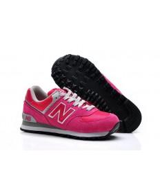 New Balance 574 rosado, blanco de las zapatillas de deporte para mujer