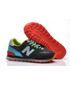 New Balance 574 Negro, las zapatillas de deporte de plata + azul para mujer