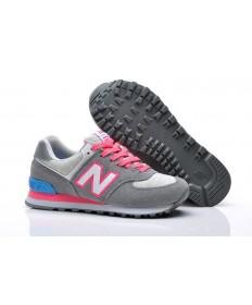 New Balance 574 gris, los formadores de color rosa para mujer