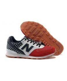 New Balance 996 EE.UU. Armada, blanco + rojo zapatos de las mujeres