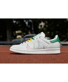Adidas Stan Smith zapatos meteóricas amarillo verde blanco
