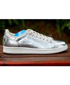 Adidas Stan Smith formadores de color plata de lujo zapatos