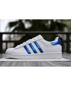 Adidas superstar 80s zapatos blanco AzulReal