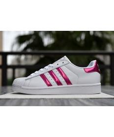 Adidas superstar 80 Zapatos de la zapatillas rojo claro blanco