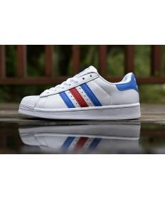 Adidas superstar 80s zapatos blanco rojo royalazul