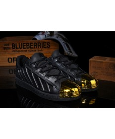 zapatos Adidas Superstar negro/oro