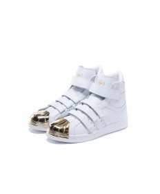 Adidas Superstar 80s instructores blanco/oro