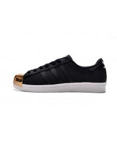 Adidas Superstar 80 metales formadores del dedo del pie zapatillas de deporte negro/oro