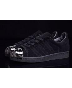 Dedo del pie Adidas Superstar 80 metales zapatos negros/plata formadores