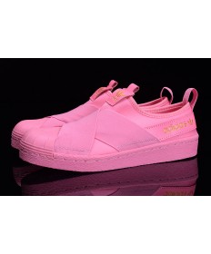 Adidas Superstar SLIP ON todos los formadores zapatillas de color rosa/oro