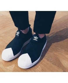 Adidas Superstar SLIP ON zapatillas de deporte negras/blancas