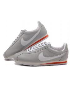 Nike Classic Cortez Cuero 09 las zapatillas de deporte para hombre Gris Blanco Rojo