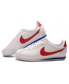 Nike Classic Cortez de piel para hombre 09 Blanco Rojo Azul trainers