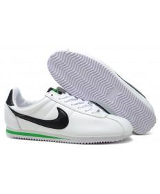 Nike Classic Cortez Cuero 09 las zapatillas de deporte para hombre Blanco Negro Verde
