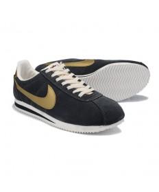zapatillas de deporte gris Nike Classic Cortez Yots Suede Vintage oscuro para hombre de oro