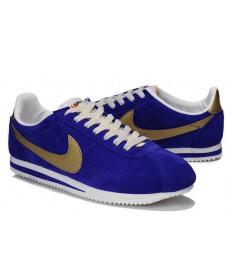 formadores de oro Nike Classic Cortez Suede Vintage para hombre del azul real