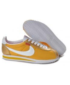 Nike Classic Cortez Nylon amarillo de oro únicos zapatos para hombre de formadores