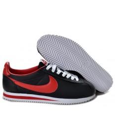Nike Classic Cortez Nylon Negro rojo superior de las zapatillas de deporte para hombre