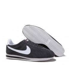 zapatos Gris Nike Classic Cortez Gamuza oscuro de la vendimia blancos para hombre