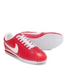 Nike Classic Cortez Cuero 09 zapatos formadores blanco rojo para hombre