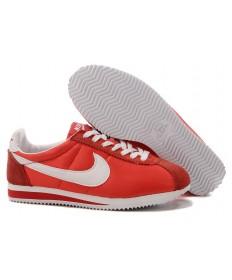 zapatillas de deporte Nike Classic Cortez Nylon Blanco Rojo para mujeres