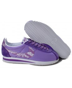 formadores zapatillas de deporte Nike Classic Cortez Nylon púrpura especiales para las mujeres