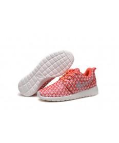 Nike Roshe Run Triángulos Naranja/zapatillas de deporte blancas para las mujeres