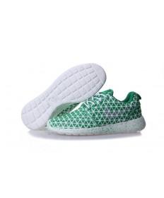Nike Roshe Run triángulos verde/blanco de zapatos para mujer