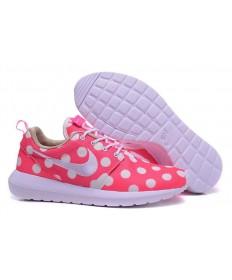 Nike Roshe Run rosadoDots/blanco/blanco para los formadores para mujer