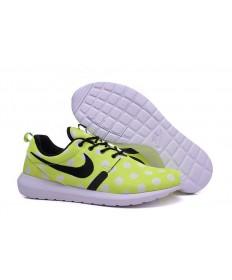 Nike Roshe Run Amarillo/puntos blancos/Negro para hombre Zapatos de la zapatillas