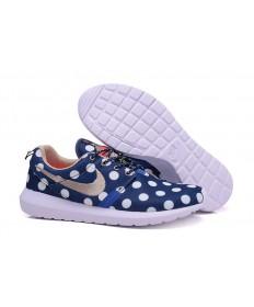 Nike Roshe Run Azul oscuro/puntos blancos/de color caqui oscuro de las zapatillas de deporte para hombre