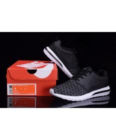 gris Nike Roshe Run Hyp QS 3M las zapatillas de deporte Negro/Dim
