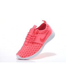 Nike Roshe Run para mujer volcánica de color rojo/zapatos tenis blancos