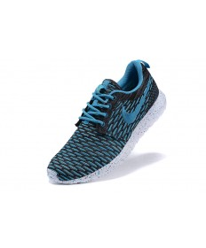 Nike Roshe Run Flyknit para hombre del cielo azul profundo/formadores negro zapatillas de deporte
