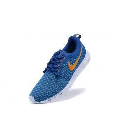 Nike Roshe Run Flyknit para hombre Dodger azul/naranja/azul cielo zapatillas de deporte