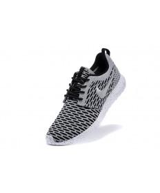 Nike Roshe Run Flyknit de gris para hombre Negro/formadores