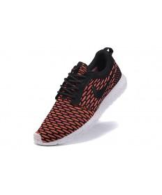 Nike Roshe Run Flyknit para hombre del tomate/Zapatos negros