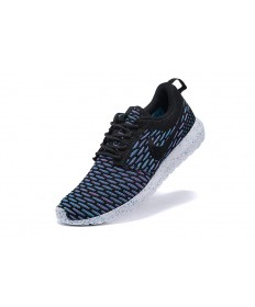 Nike Roshe Run Flyknit de la marina de guerra para hombre azul/formadores negras zapatillas de deporte