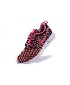 Nike Roshe Run Flyknit para mujer pálido violetrojo/zapatillas de deporte Negro/Rosa