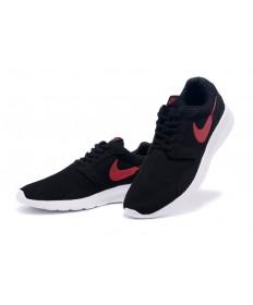 Nike Roshe Run para hombre Negro/Zapatos rojos