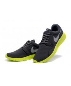 Nike Roshe Run para hombre Negro/zapatillas de deporte grises Dim