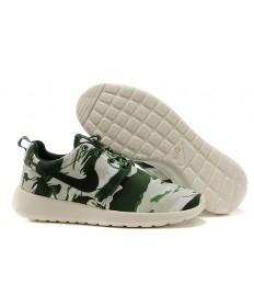 Nike Roshe Run Aire 3M zapatillas de deporte de color gris verde del ejército/Luz