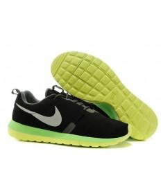 Nike Roshe Run NM BR 3M Suede para hombre Negro/amarillo fluorescente trainers