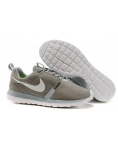 zapatos Nike Roshe Run NM BR 3M Suede para hombre gris/gris claro/azul láser