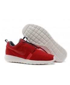 Nike Roshe Run NM BR 3M Suede para hombre de ladrillo de fuego/Negro Dim grises formadores/zapatillas de deporte