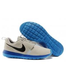 bases Nike Roshe Run NM BR 3M Suede para hombre Gris/Negro/Azul Deportes/Juego de las zapatillas de deporte de zafiro