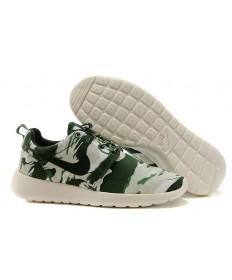 zapatos grises Nike Roshe Run Ejército azul/blanca de la vela/Luz