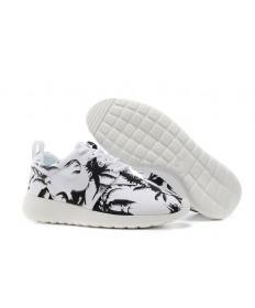 Nike Roshe Run Blanco/Negro palma formadores de árboles zapatos