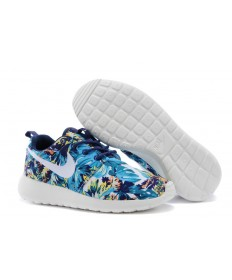 azul Nike Roshe Run Mar/Profundos/zapatillas de deporte blancas azules
